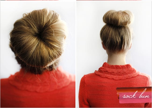 Sock Bun | 25 Easy Updos | HelloGlow.co