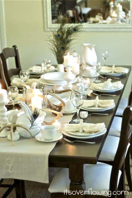 Whimsical & Natural Thanksgiving Table