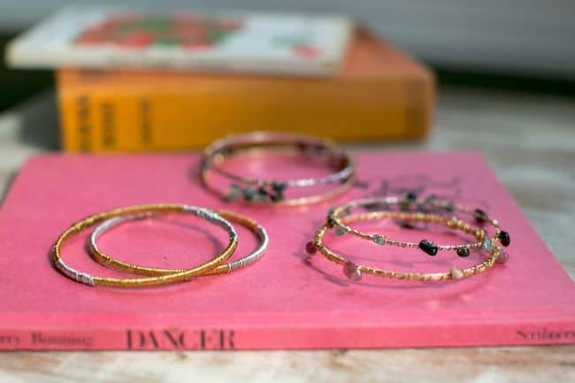 DIY Wire Wrapped Bracelets | Hello Glow