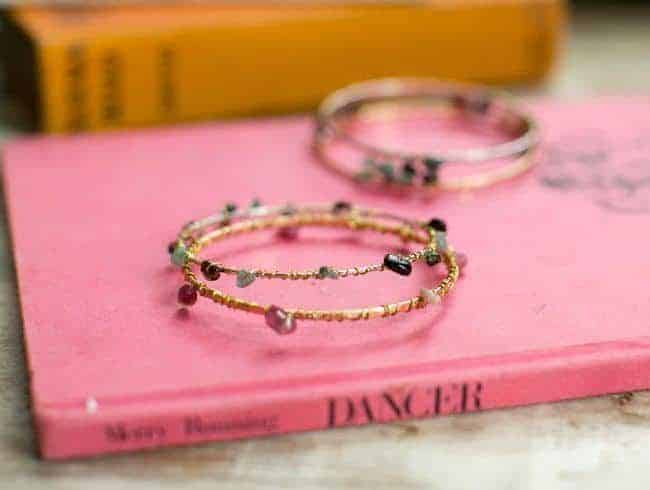 DIY Mixed Metal Wire Bangles