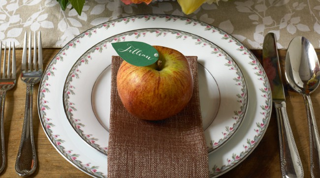 DIY Apple Placecard