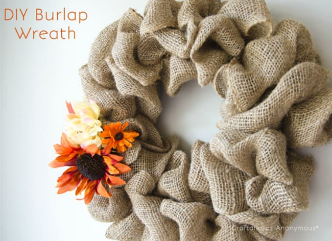 DIY Burlap Bubble Wreath