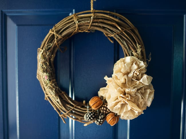 Repurposing Project: Fall Wreath