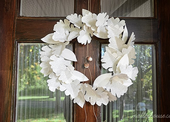 Fall Paper Leaves Wreath