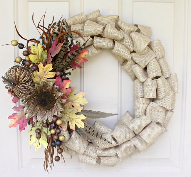 Quick & Easy Burlap Fall Wreath