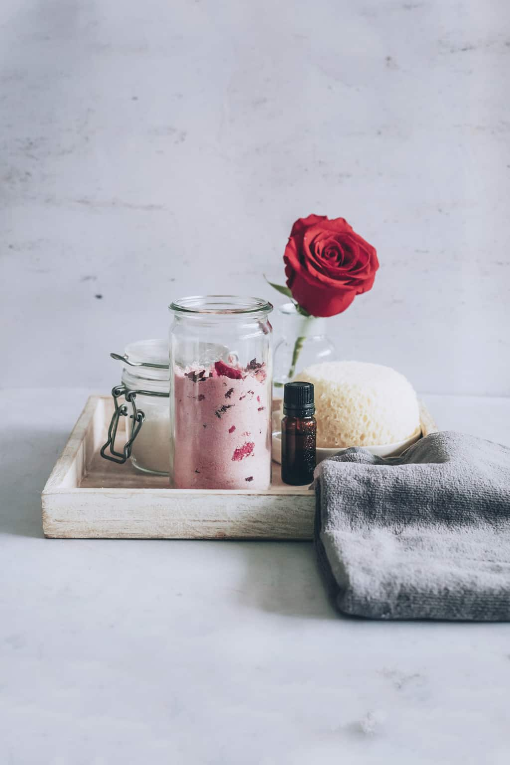 Homemade Milk Bath wit Roses