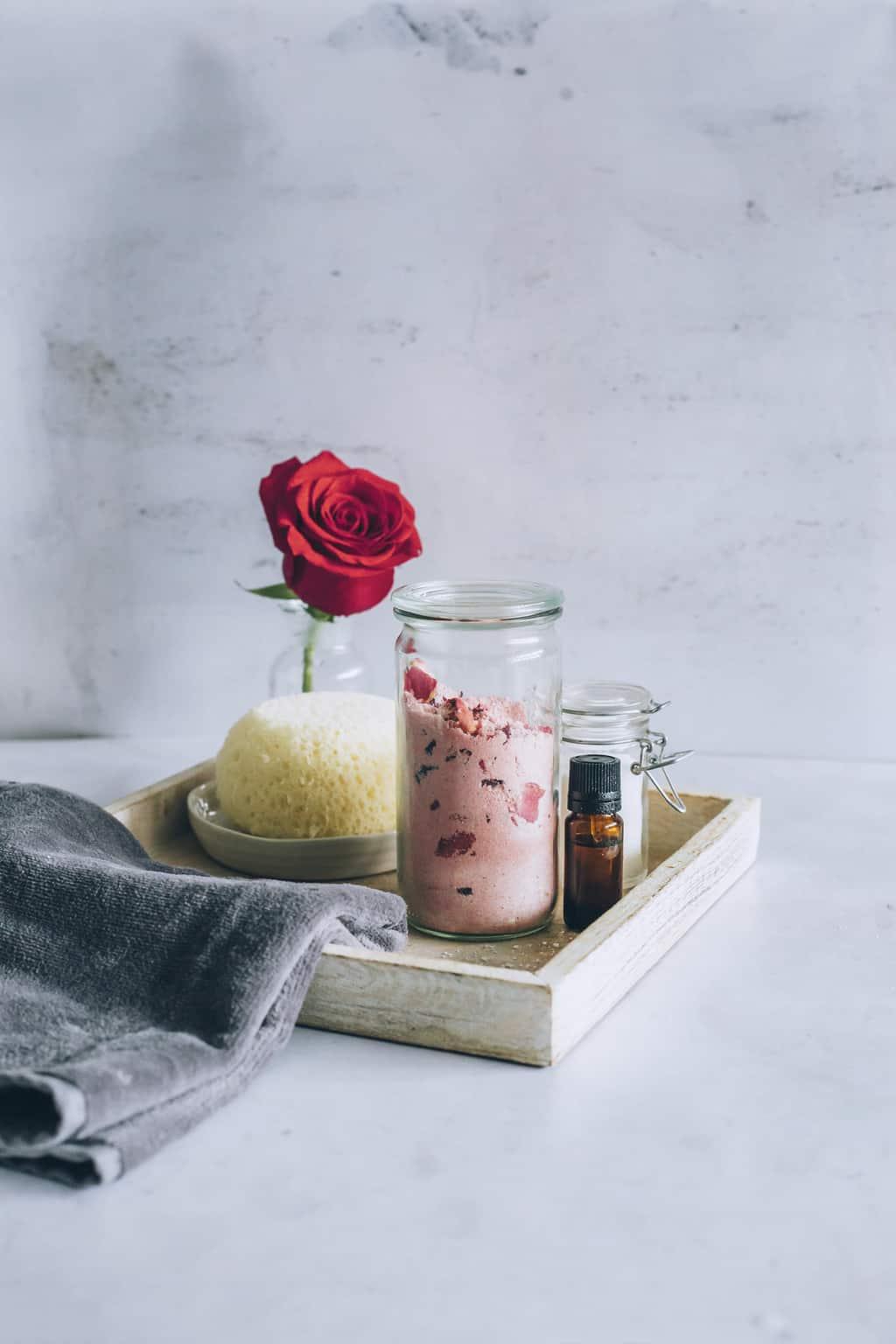 DIY Rose Milk Bath