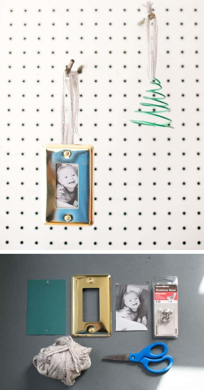 Wall Plate Photo DIY Ornament | HelloGlow.co