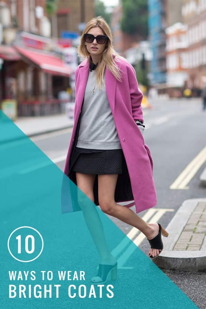 10 ways to wear bright coats