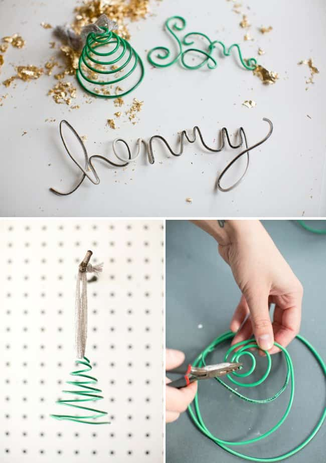 Wire Name DIY Ornaments | HelloGlow.co