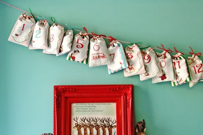 Drawstring Bag Advent Calendar   Hello Glow