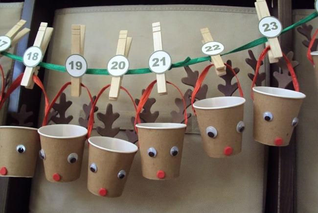 Reindeer Cup Advent Calendar   Hello Glow