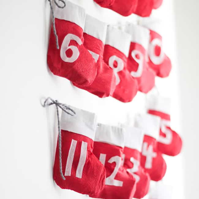 Stocking Garland Advent Calendar | Hello Glow
