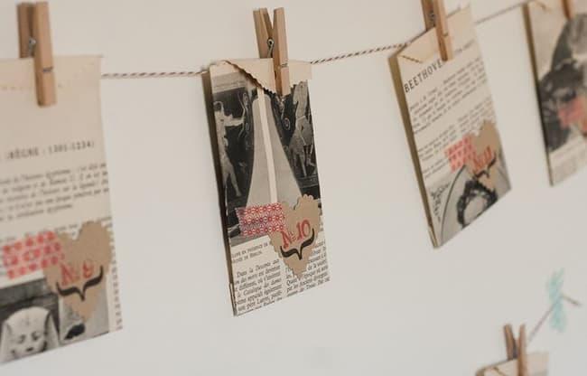 Vintage Paper Advent Calendar   Hello Glow