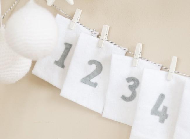Felt String-tie Advent Calendar   Hello Glow