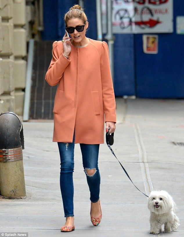 Peach coat