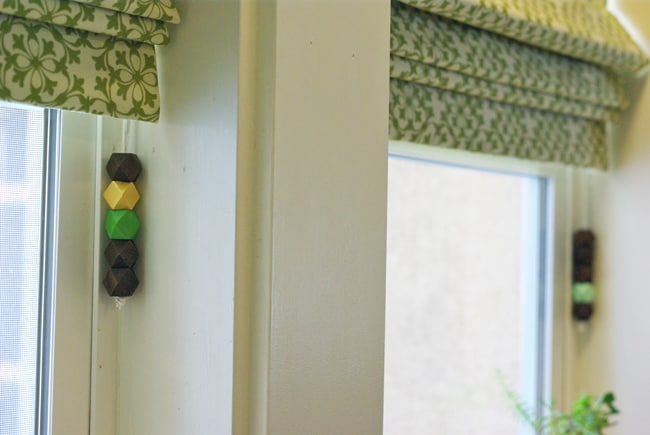 DIY Bead Curtain Pulls | Hello Glow