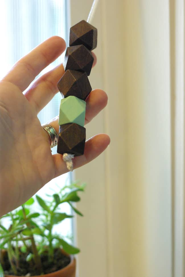 DIY Bead Curtain Pulls | Henry Happened
