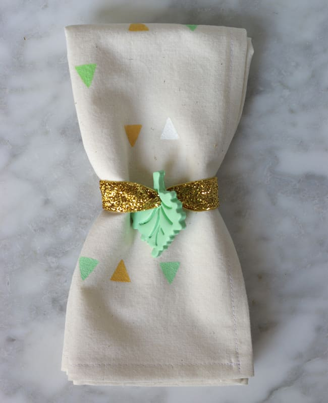Clay Leaf Napkin Rings | Hello Glow