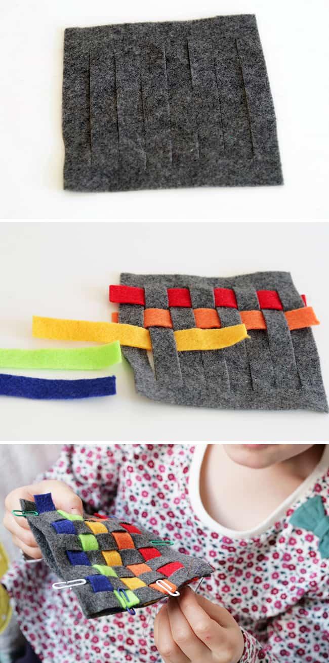DIY Woven Felt Coaster | Henry Happened