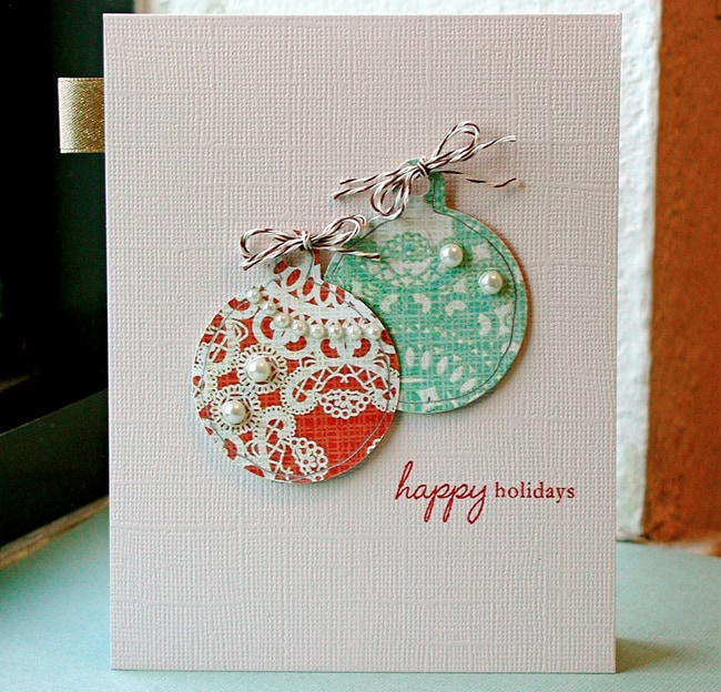diy holiday cards ornaments