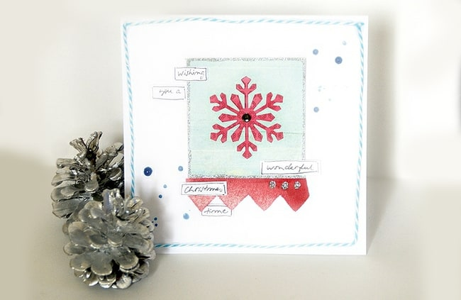 diy holiday cards pastel