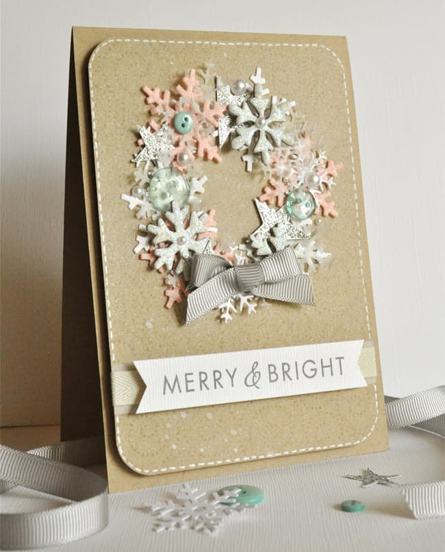 20 handmade holiday cards hello glow for Diy cards