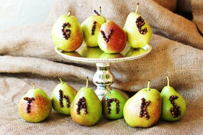 DIY Pear Thanksgiving Decor