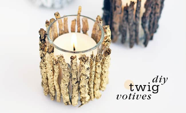 DIY Twig Votives