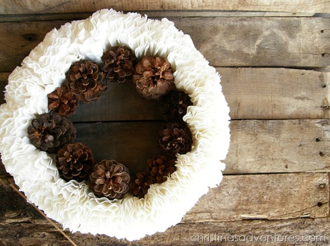 Pine Cones & Coffee Filters