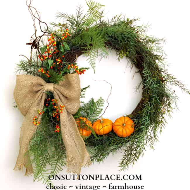 How To Make Mini Pumpkin Wreath