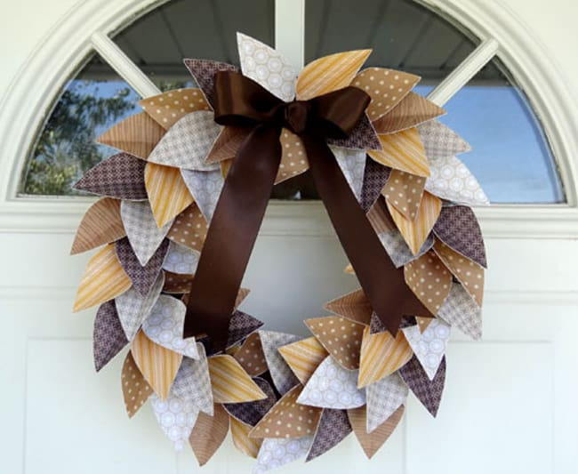 Paper Leaf Fall Wreath