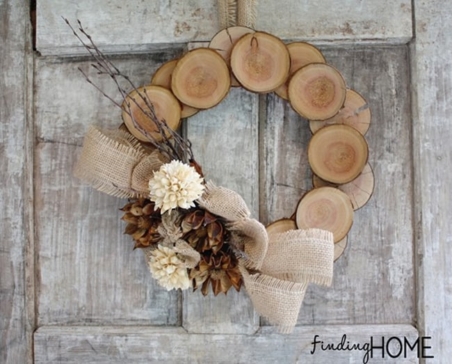 Wood & Burlap Fall Wreath