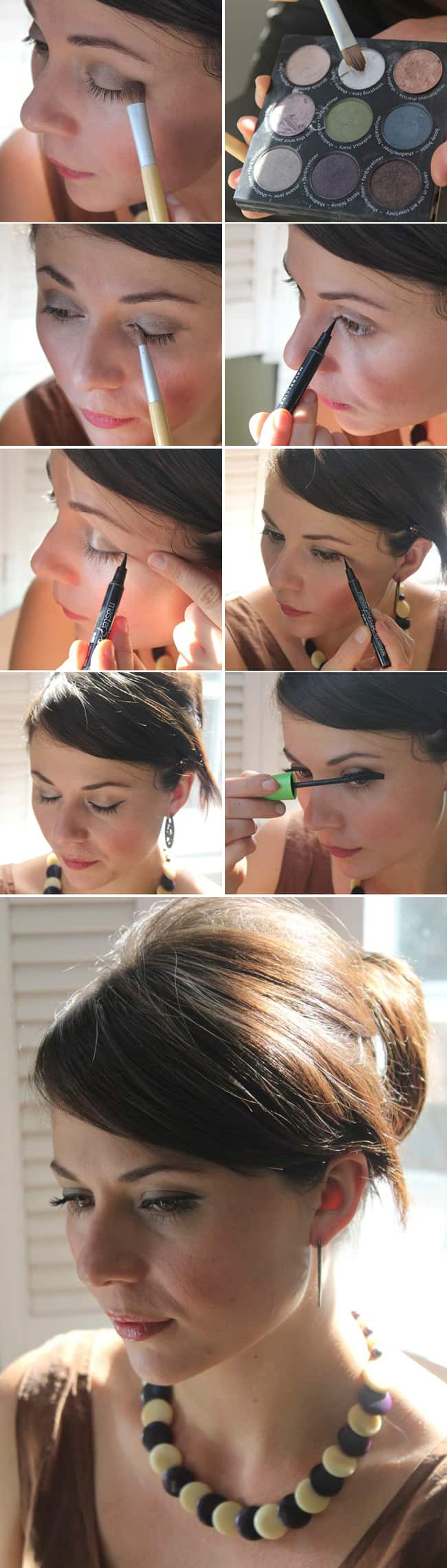 jessica albas sophisticated chignon cat eye tutorial