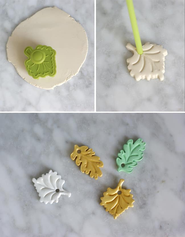 DIY Clay Leaf Napkin Rings | Hello Glow
