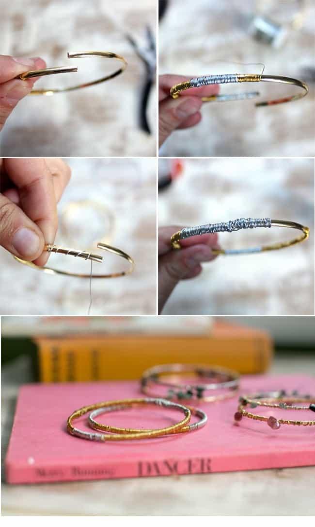 DIY Metal Bracelets | Hello Glow