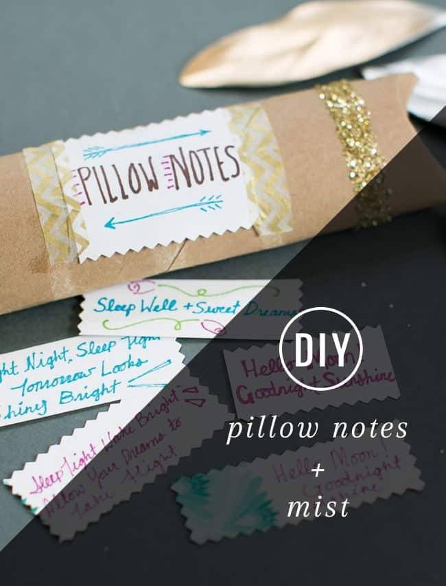 DIY Pillow Mist + Notes | HelloGlow.co