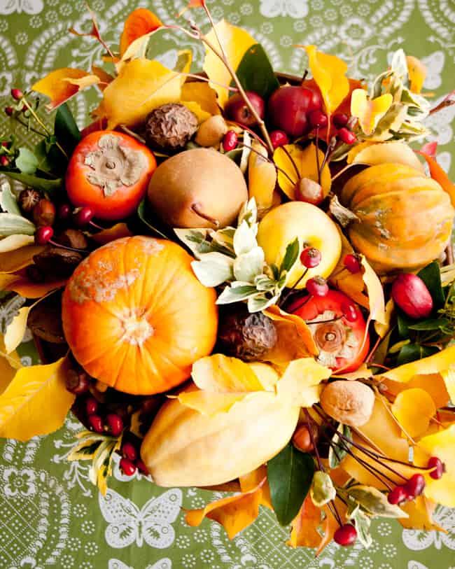 thanksgiving centerpiece - top view
