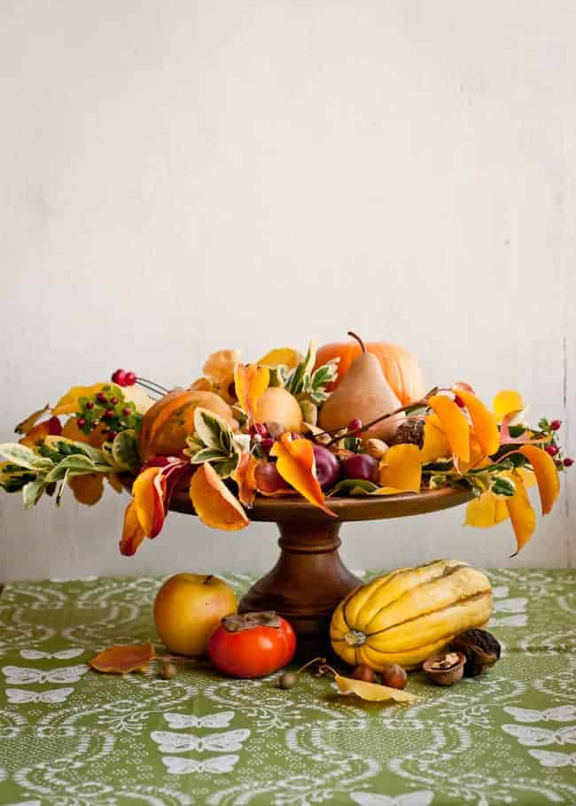 Natural thanksgiving centerpiece hello glow