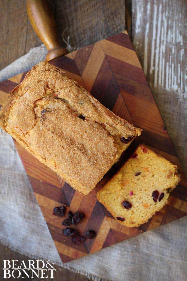 Sweet Potato Cranberry Quick Bread