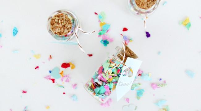 25 Creative Ways to Use Confetti mini jars