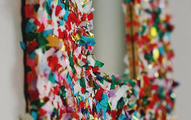 25 Creative Ways to Use Confetti mirror