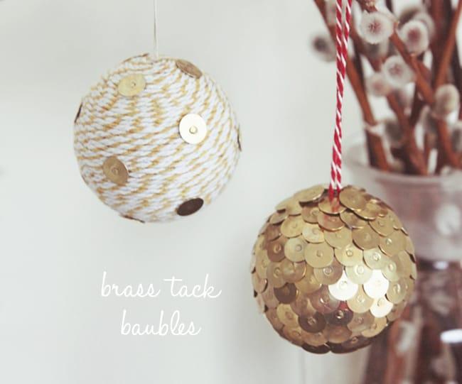 25 DIY Ornaments Thumbtack Ball Ornaments