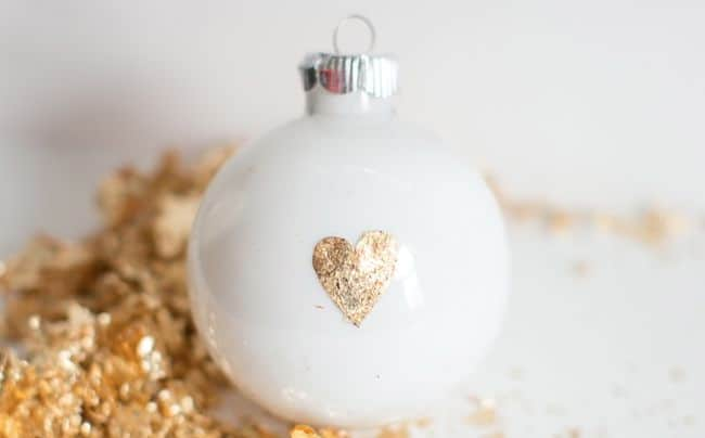 25 DIY Ornaments Gold Leaf