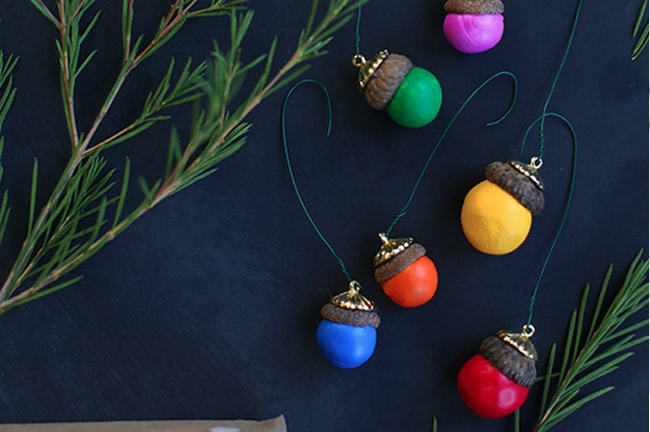 25 DIY Ornaments Acorns