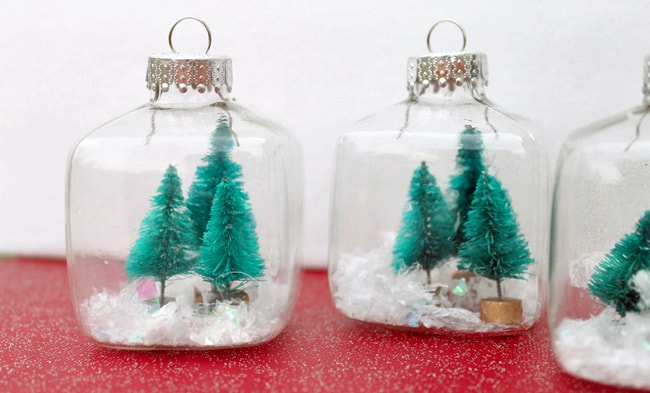 25 DIY Ornaments Snow Globes