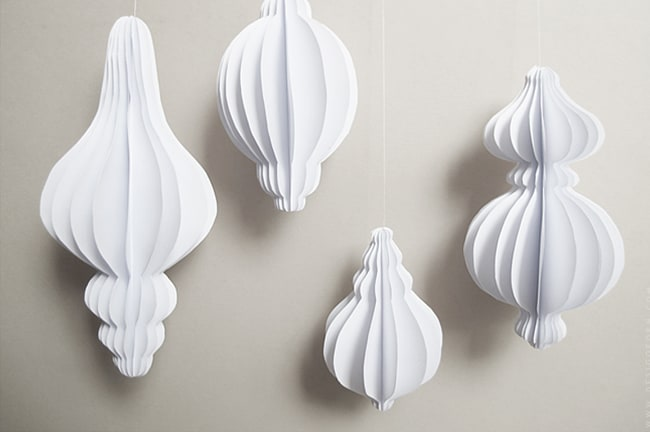 Paper tree ornaments you can create endless designs with this easy