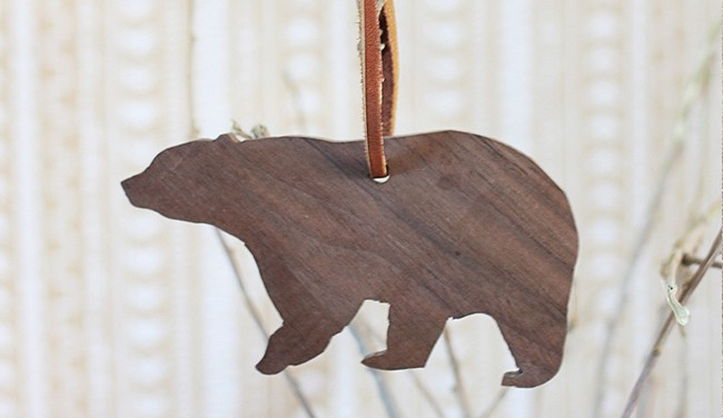 25 DIY Ornaments Wooden Animals