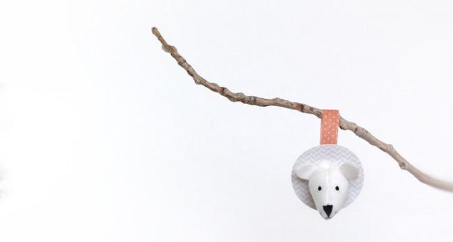 25 DIY Ornaments Faux Taxidermy