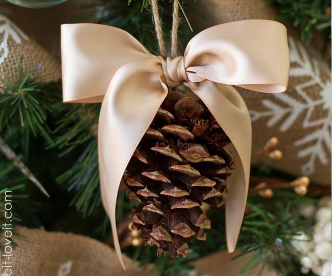 25 DIY Ornaments  Fancy Pinecone
